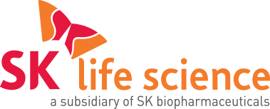 """""""SK Life Science - a Subsidiary of SK Biopharmaceuticals"""" Logo"""