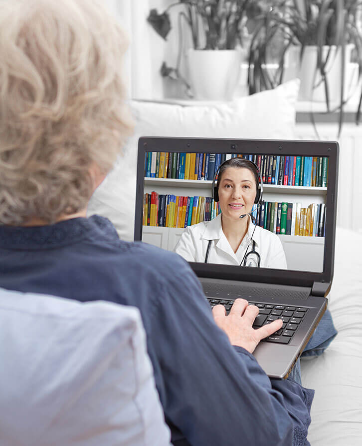 Epilepsy Patient Talking to Doctor with Telehealth